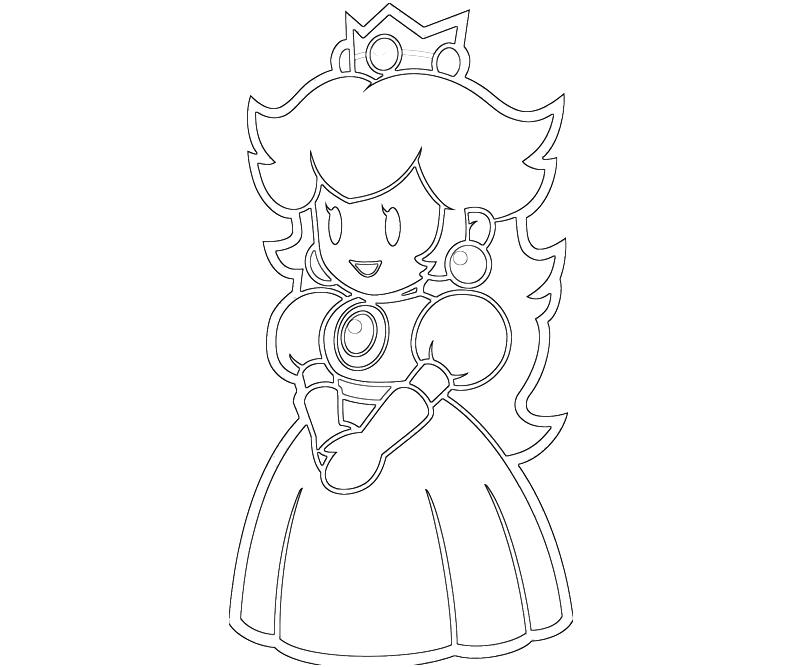 princess peach coloring pages printable - princess peach peach cute jozztweet