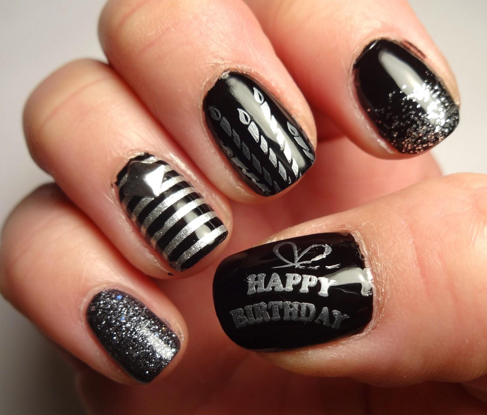 Happy Birthday Nails: Nail Art Blog: Birthday Swank
