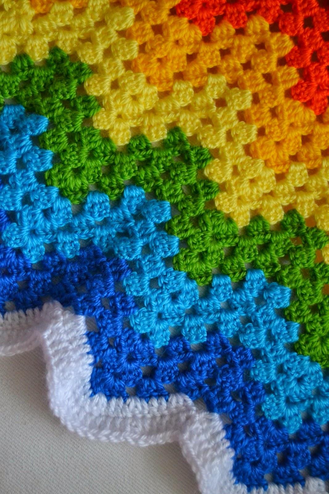 Zig zag örgü battaniyenin yapımı-crochet granny ripple blanket