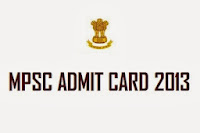 MPSC Police Sub Inspector Admit Card 2013