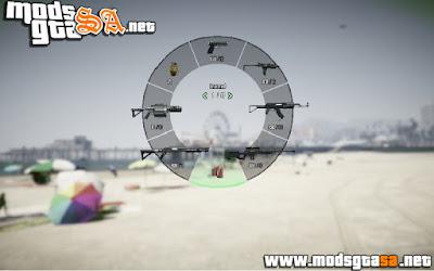 V - Ícones das Armas em 3D para GTA V PC