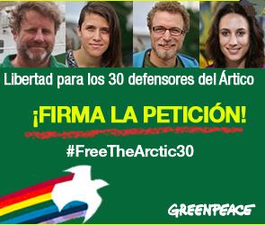 Libertad para los 30 defensores del Ártico