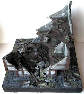 Makieta do gry bitewnej ruiny budynku miasta Mordheim