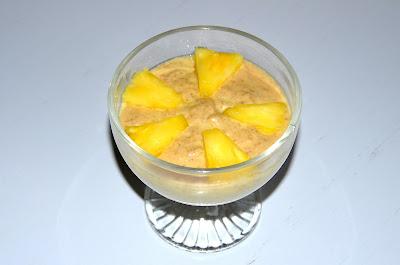 Krema z banano in ananasom