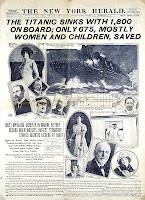 New York Herald front page about the Titanic disaster