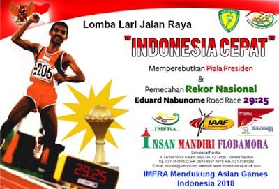Indonesia Cepat 10K 2016, lomba lari jalan raya jakarta eduard namubone