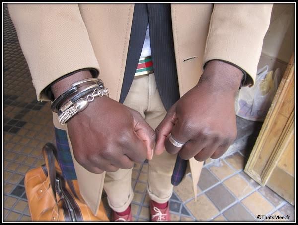 Bracelet bijoux Nicolas Theil cuir, ceinture Gucci, Harvey agence Kisu PR , Dedicate Magazine