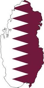 Qatar-Flag map