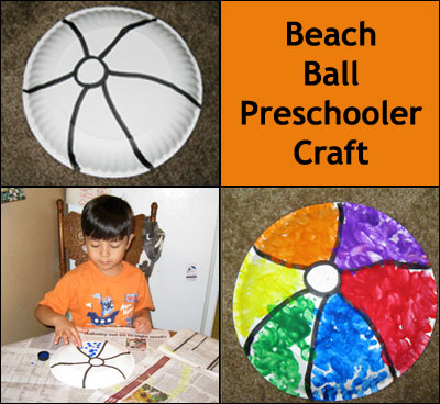 Beach Ball Preschooler Craft Instructions from Gummy Lump