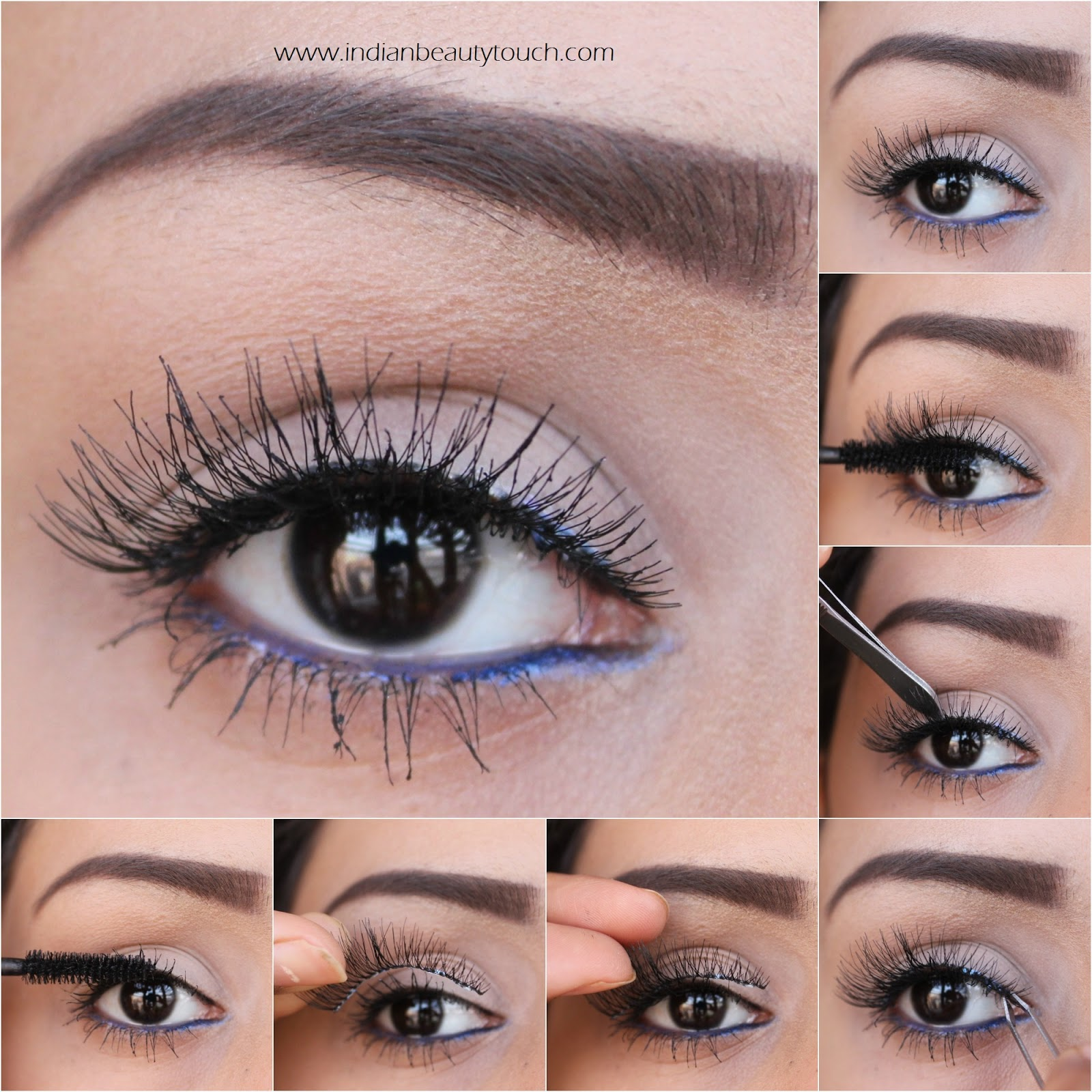 How to Apply False Eyelashes | Indian Beauty Touch