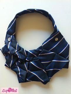 Collana colletto fatto a mano da una cravatta