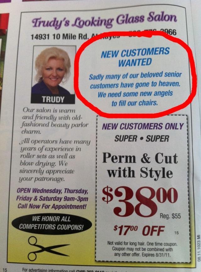 copyranter: Hair salon ad is truly horrible.