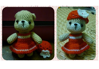 Amigurumi Crochet Little Bear Red Keychain Idea