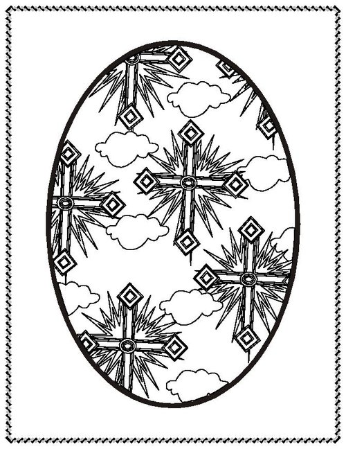 ukraine eggs coloring pages - photo#13