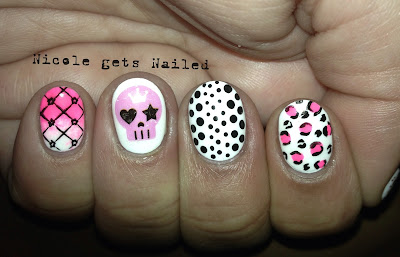 Skull Water Decals Nails