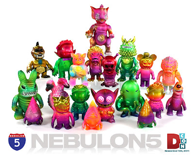 Designer Con Exclusive Custom Vinyl Figures by Nebulon5