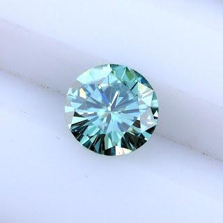 blue moissanite