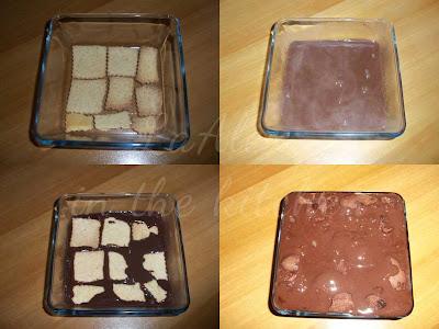 Procedimento - Tortino di Biscotti e Budino al cioccolato fondente