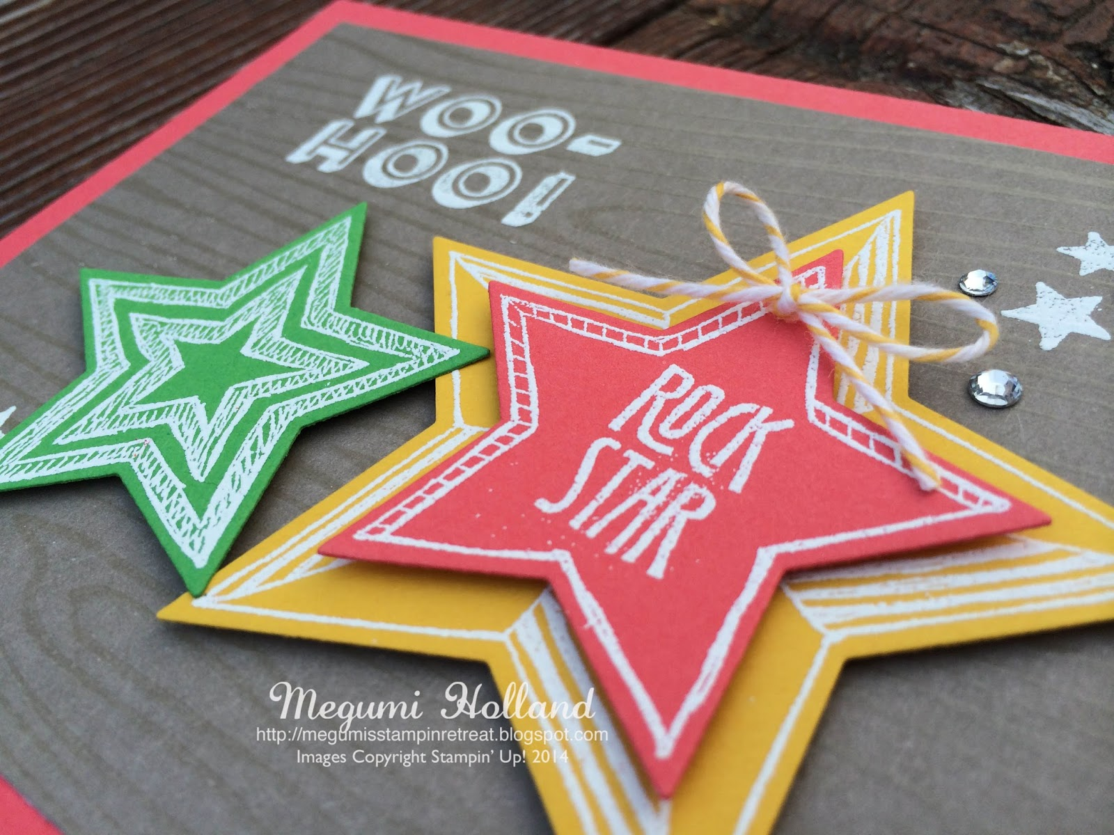 Megumi\'s Stampin Retreat: Rock Star Card & 2015-2016 DSP Swatch Books