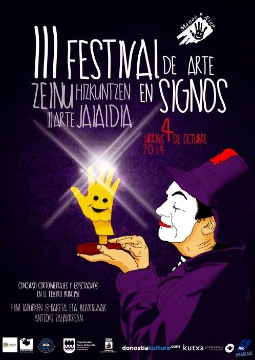 III Festival de Arte en Signos - Manos k Rien - 4 octubre'14 Guipuzcoa Cartel+nuevo+2014