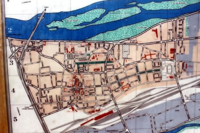 plan de la ville de Saint-Pierre-des-Corps 37700 Indre-et-Loire