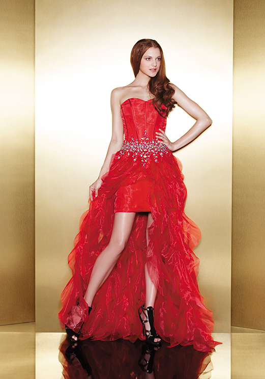 Love 16 Red High Low Prom Dresses by Enzoani 2013