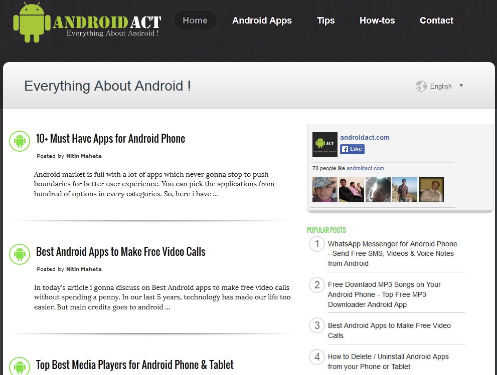 Template Blogger responsive untuk blog android