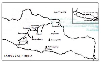 Peta penemuan jenis-jenis manusia purba Indonesia (Sumber: Pengantar Sejarah Kebudayaan Indonesia)