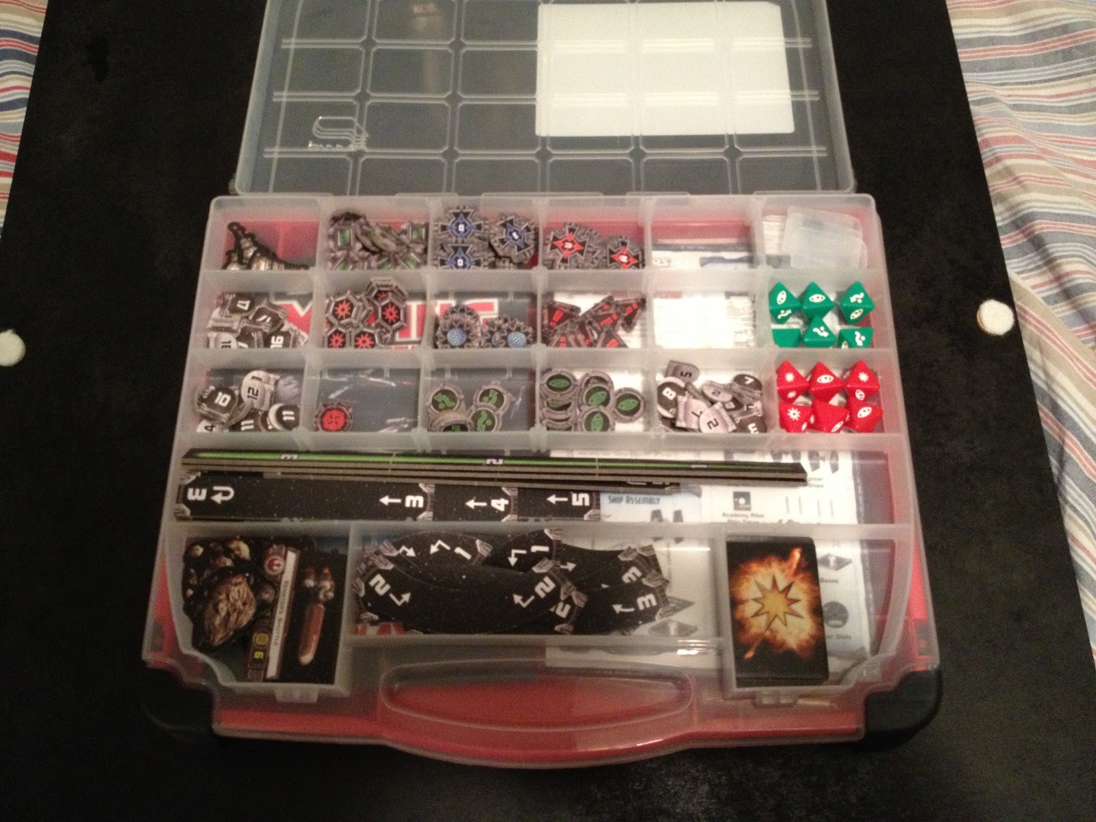 Bits of boardgames use the force a review of x wing for Board game storage solutions