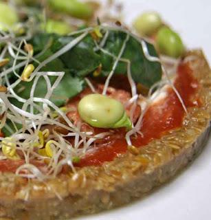 Raw food pizza