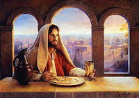 Jesus tomando santa ceia