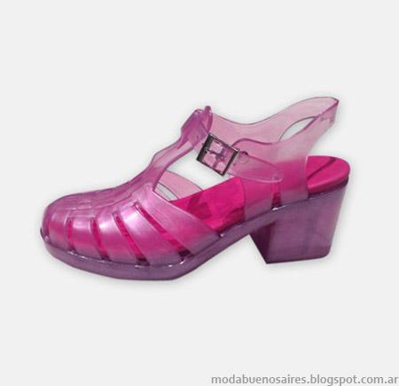 Sandalias plásticas primavera verano 2015 Hoku Shoes.