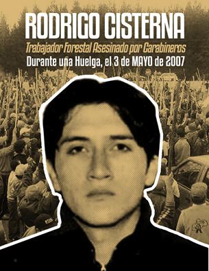 Rodrigo Cisternas, trabajador forestal asesinado por Carabineros