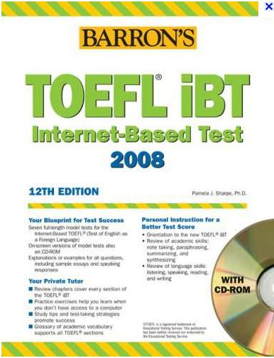 Barron's TOEFL TOEFL iBT, 12th Edition - Pusat TOEFL