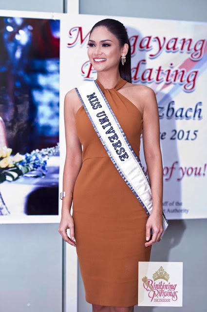 Miss Universe 2015 Pia Wurtzbach arrives in Manila