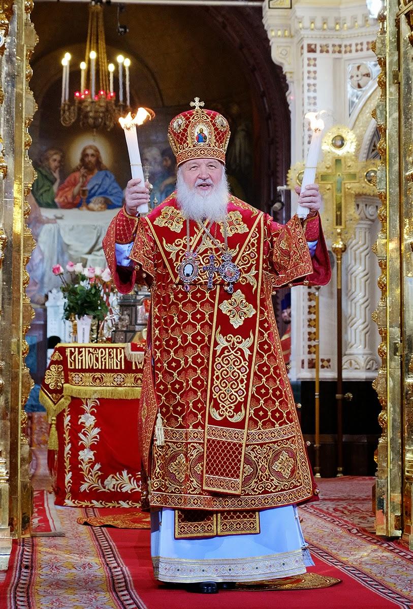 Патриарх Кирилл. Пасха 2014 года. Фото: www.patriarchia.ru