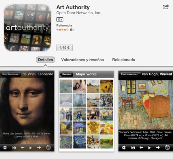 aplicaciones arte Art Authority smartphone tablet apps