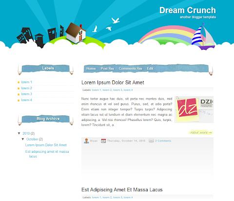 Dream Crunch Blogger Theme