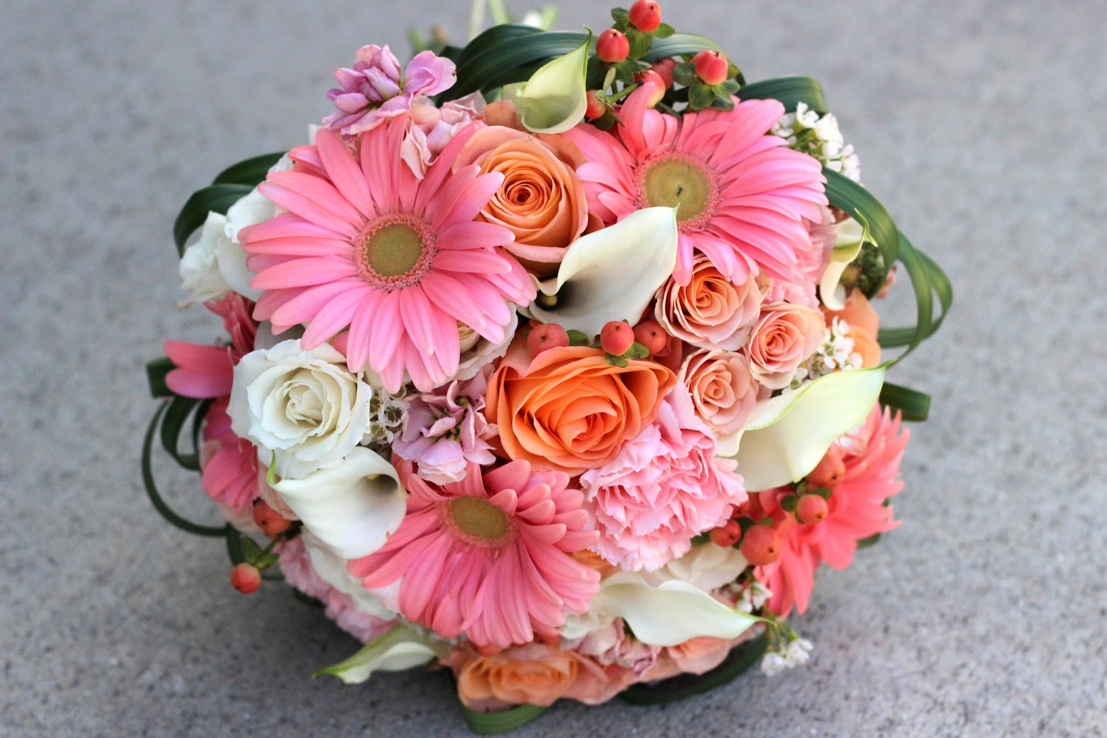Celebration flair peach and pink and coral oh my lindsay andrew mothers corsage peach and white spray roses coral hypericum berries white wax flower with coral and gold ribbon mightylinksfo