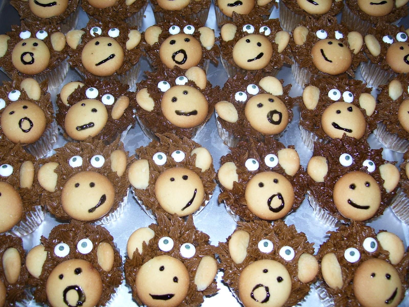 monkey cupcake designs