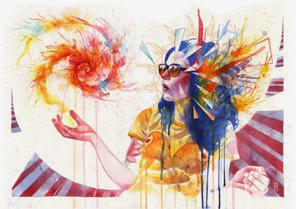 Guillem Marí guillembe deviantart pinturas aquarelas cores séries