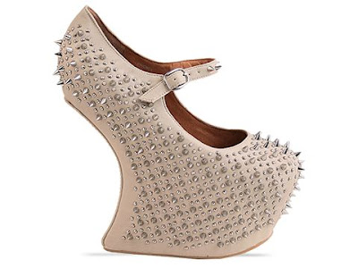 Jeffrey Campbell Prickly in beige / silver