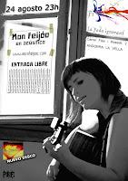 diseño cartel Mon Feijóo / Foto Paco Romero