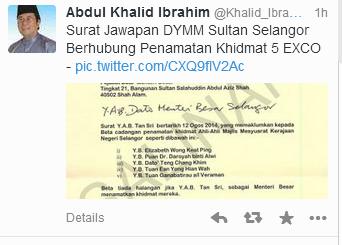 Khalid Dedah Surat Perkenan Sultan #Kajangmove