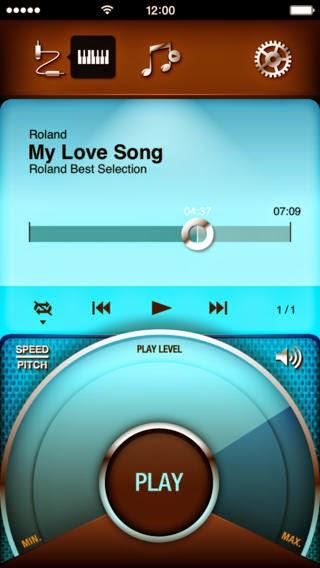 Roland LX15e digital piano Air Performer iPad app