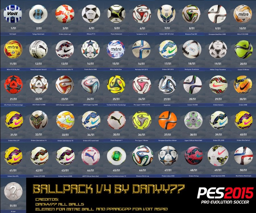 Download Ballpack Pes 2015 Terbaru