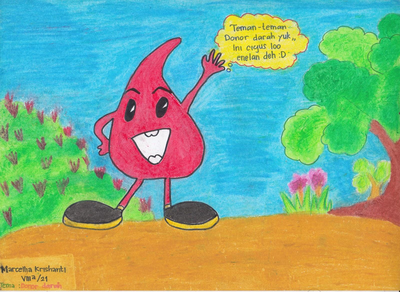 Palmepatsa Palang Merah Remaja Smpn 41 Surabaya Poster Donor Darah