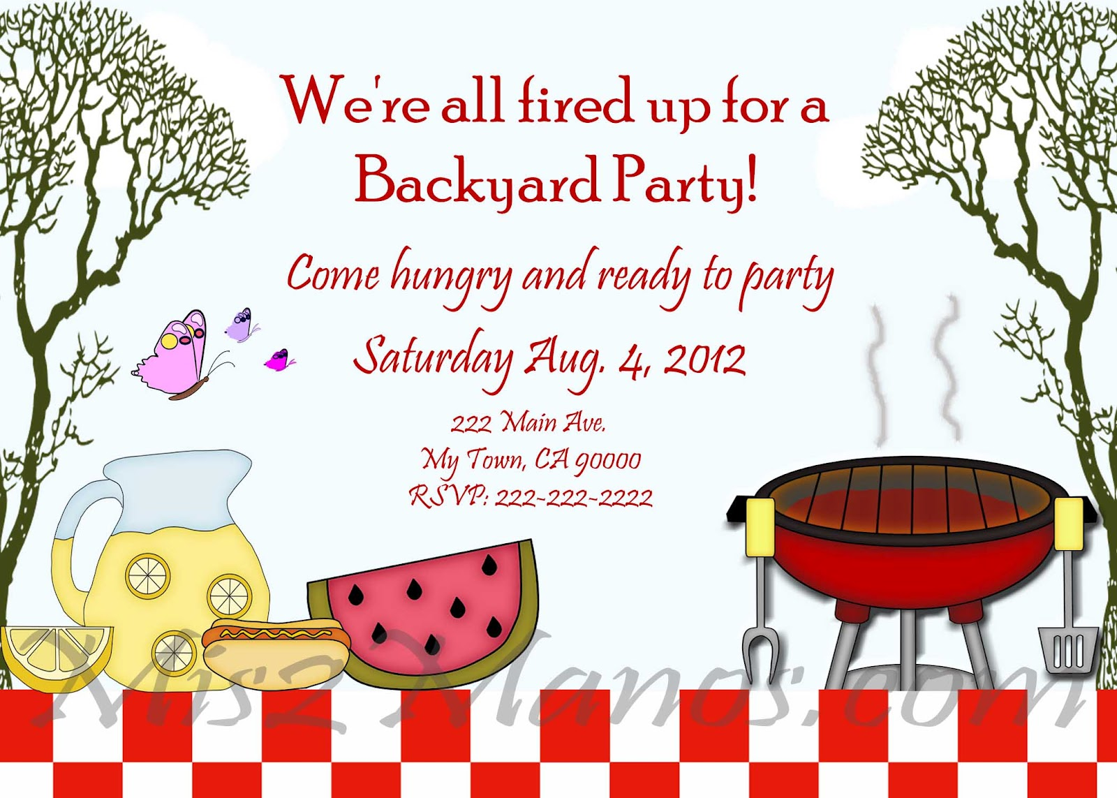 bbq party invitation templates