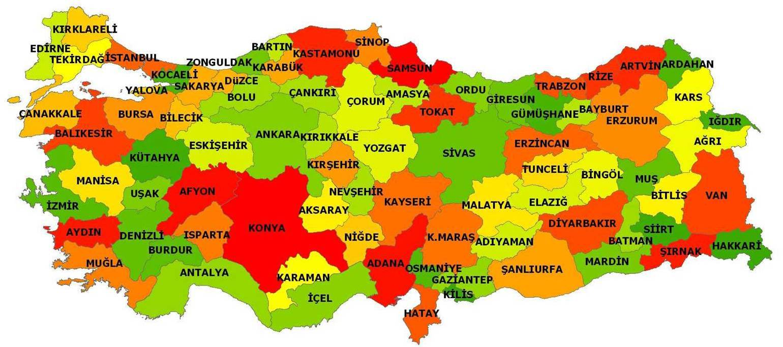 City Map of Turkey ~ Turkey Physical Political Maps of the City