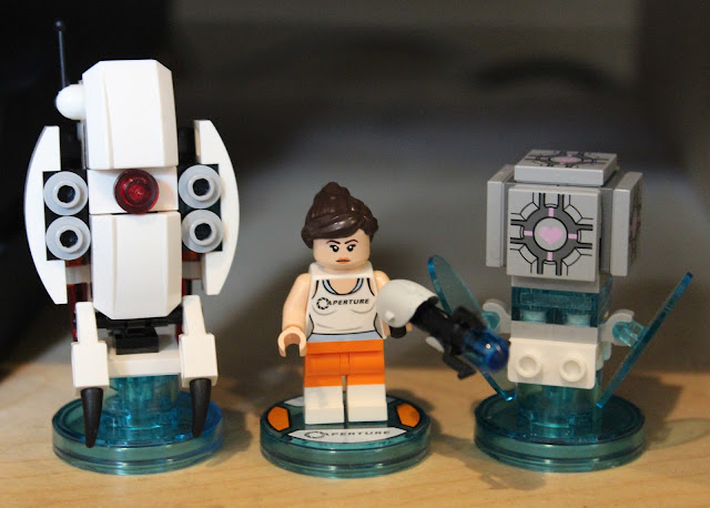 Lego Dimensions Portal 2 level pack - Chell, turret and companion cube